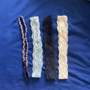 Lot of 4 Headbands/Hairbands